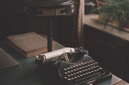 Schreibmaschine im Maxim Gorky Museum, Moskau